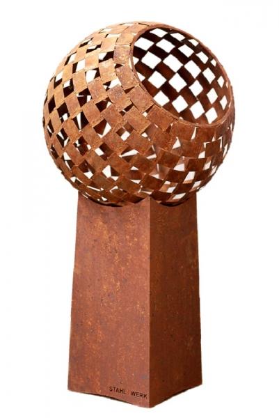 Set Feuerball mittel 63 cm und hoher Sockel 70 cm